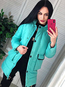Жіноча куртка зимова. Тканина - плащівка Канада+ силікон 250. Розміри М і Л.