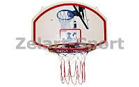 Щит баскетбольный с кольцом и сеткой BA-3522 (щит-PP р-р 90x60см, кольцо-сталь (12мм) d-42см)