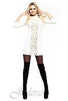 Платье - туника Манго белое 46-48 размеры Jadone