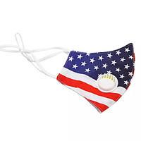 """Многоразовая маска с клапаном """"Американский флаг"""""""