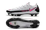 Бутсы Nike Phantom GT Elite FG white/pink, фото 2