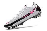 Бутсы Nike Phantom GT Elite FG white/pink, фото 3