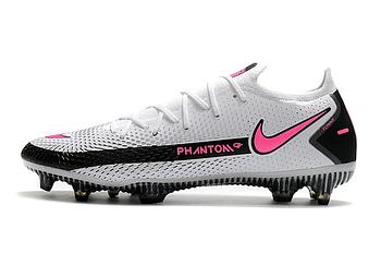 Бутсы Nike Phantom GT Elite FG white/pink