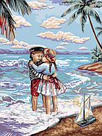 Картина по Номерам Дети и Море