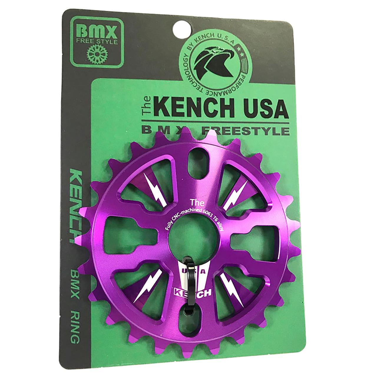 Звезда Kench KH-RN-01-ORG 25T для BMX пурпурный