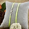 Шнурок шелковый цвет салатовый длина 50 см ширина 2 мм вес серебра 0.7 г, фото 2