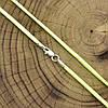 Шнурок шелковый цвет салатовый длина 50 см ширина 2 мм вес серебра 0.7 г, фото 3