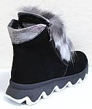 Ботинки молодежные женские с натуральным мехом от производителя модель УН433-1, фото 5
