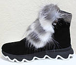 Ботинки молодежные женские с натуральным мехом от производителя модель УН433-1, фото 3