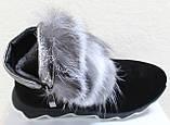 Ботинки молодежные женские с натуральным мехом от производителя модель УН433-1, фото 4