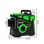 Лазерный уровень Hilda 3D 12 линий + МАГНИТНЫЙ КРОНШТЕЙН + мини ТРЕНОГА ☀ ЗЕЛЕНЫЙ ЛУЧ ☀, фото 3