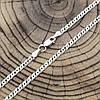 Серебряная цепочка родированная Нонна длина 45 см ширина 3 мм вес 5.2 г, фото 2