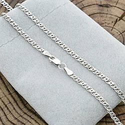 Серебряная цепочка родированная Нонна ширина 3 мм  длина 50