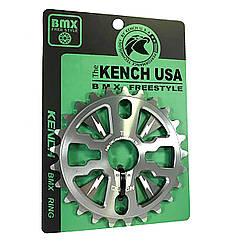 Звезда Kench KH-RN-01-ORG 25T для BMX серая