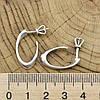 Серебряные серьги гвоздики Лакки размер 24х18 мм вес 2.7 г, фото 2