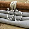 Серебряные серьги гвоздики Лакки размер 24х18 мм вес 2.7 г, фото 3