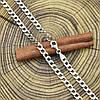 Серебряная цепочка родированная Панцирная длина 65 см ширина 5 мм вес 26.9 г, фото 2