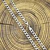 Серебряная цепочка родированная Панцирная длина 65 см ширина 5 мм вес 26.9 г, фото 3