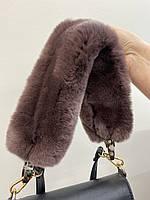 Ремінь до сумки з натурального хутра рекс, фото 1
