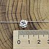 Серебряное колье длина 43+7 см ширина 1 мм вставка белые фианиты вес 2.57 г, фото 3