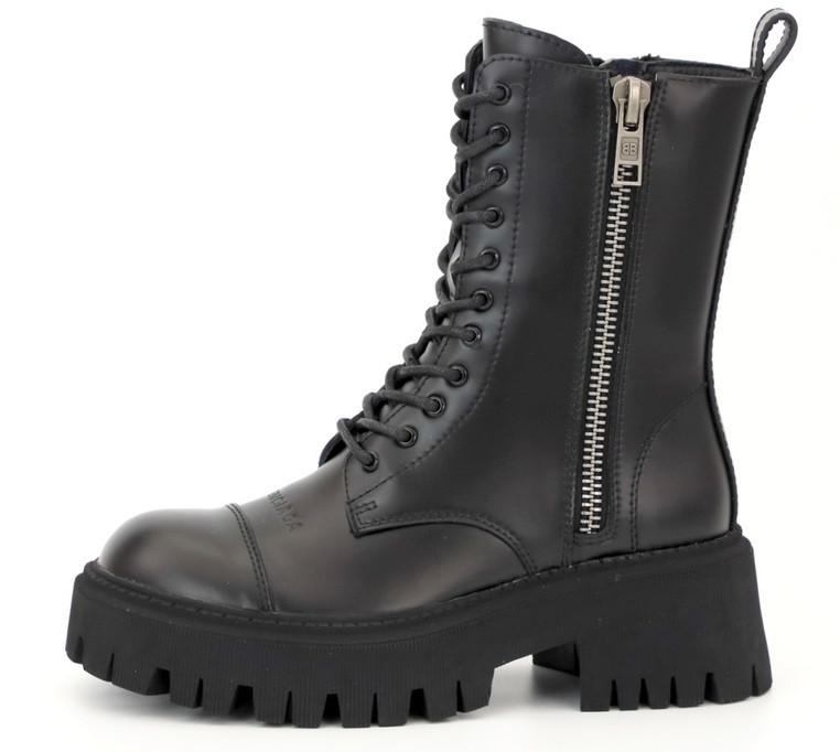 Женские демисезонные ботинки Bаlenсіagа Tractor (Premium-class) черные