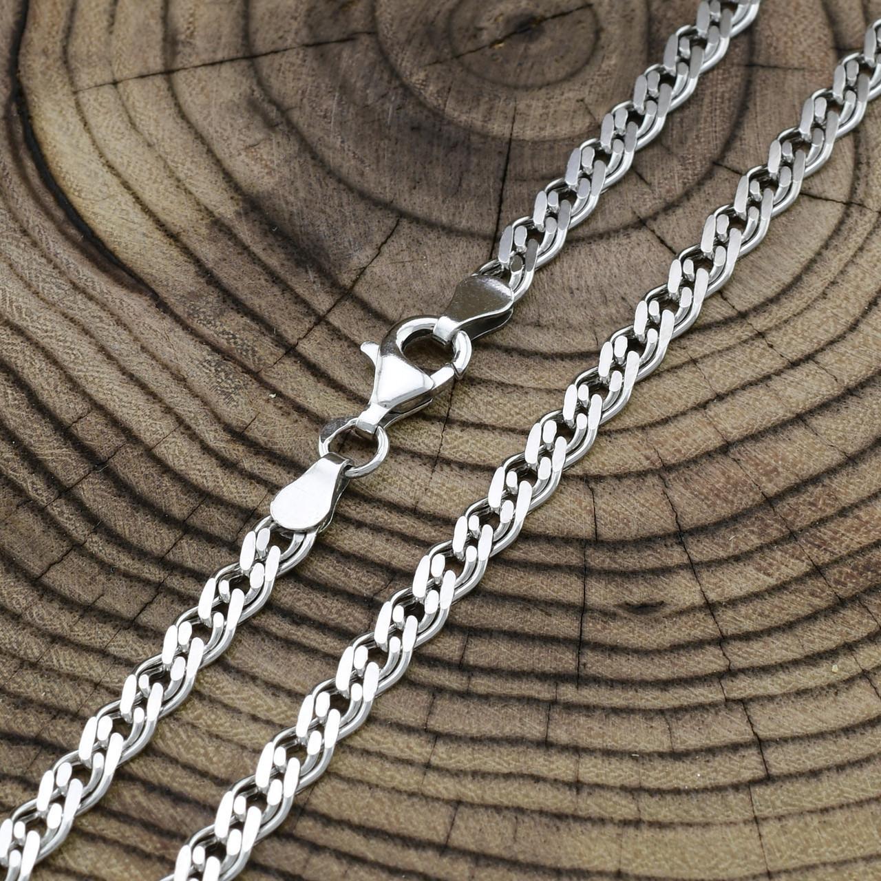 Срібний ланцюжок родований Нонна довжина 45 см ширина 4.5 мм вага 10.95 г