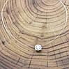 Леска с кулоном длина 40 см кулон 6х6 мм вставка белый фианит вес серебра 0.92 г, фото 2