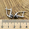 Серебряные серьги Долли размер 16х5 мм вставка черные фианиты вес 3.4 г, фото 3