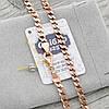 Серебряная цепочка позолоченная Панцирная ширина 4 мм вес 18 г длина 55 см, фото 3