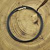 Шнурок каучуковый цвет черный длина 45 см ширина 2.5 мм вес серебра 0.8 г, фото 3