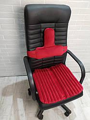 Ортопедические подушки EKKOSEAT для сидения на кресло руководителя, секторальные. Красная