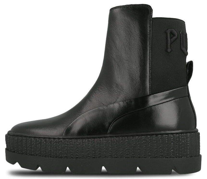 Женские демисезонные ботинки Puma Rihanna Chelsea Sneakers Boot (Premium-class) черные