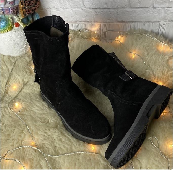 Женские ботинки полусапожки зима с мехом черный Размери 36,39,40