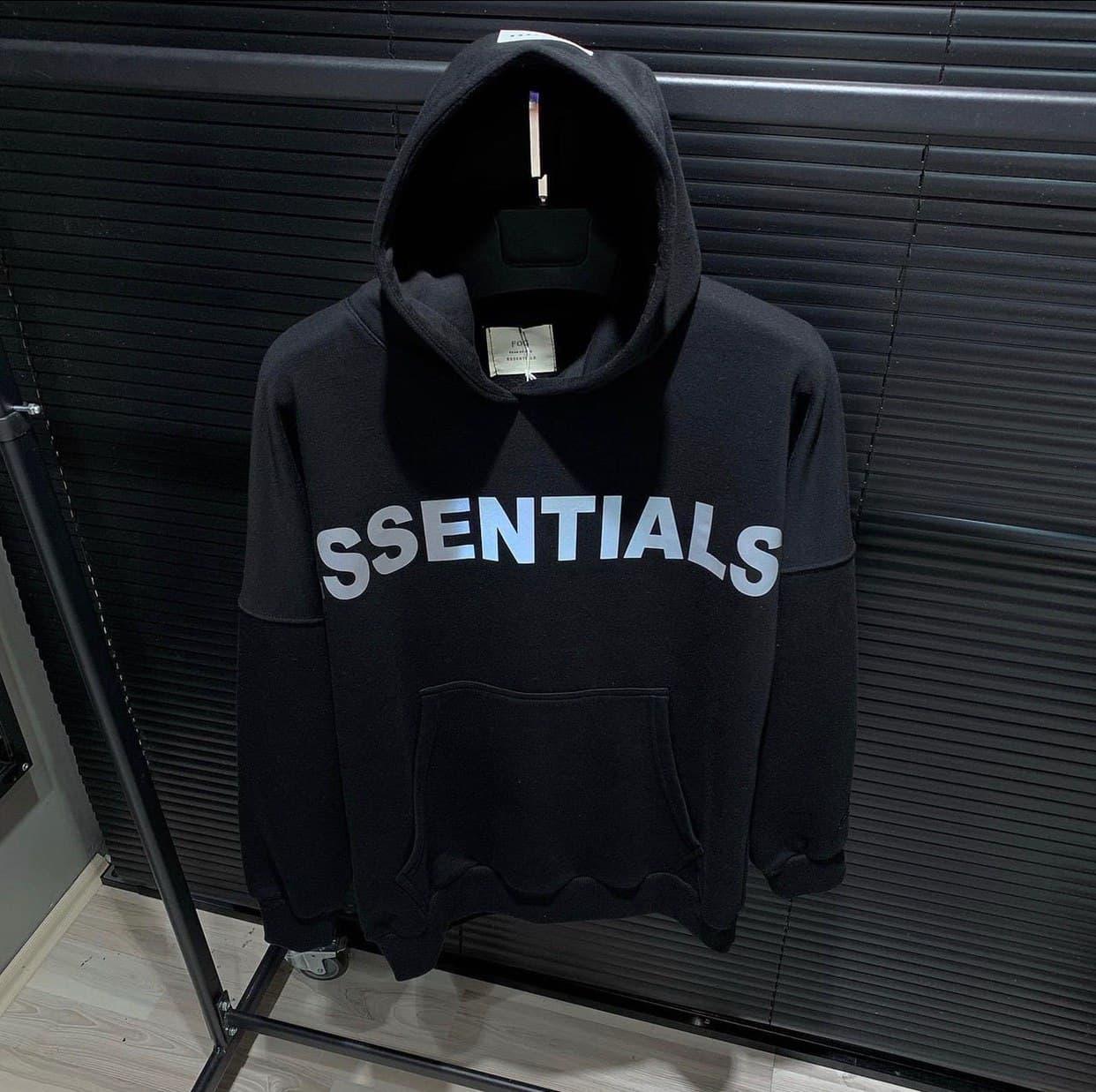 Мужская кофта худи Essentials D10183 черная