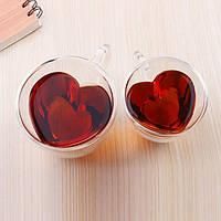 Чашка для кофе с двойным дном Сердце