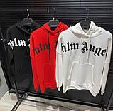 Мужская кофта худи Palm Angels D10186 черная, фото 2