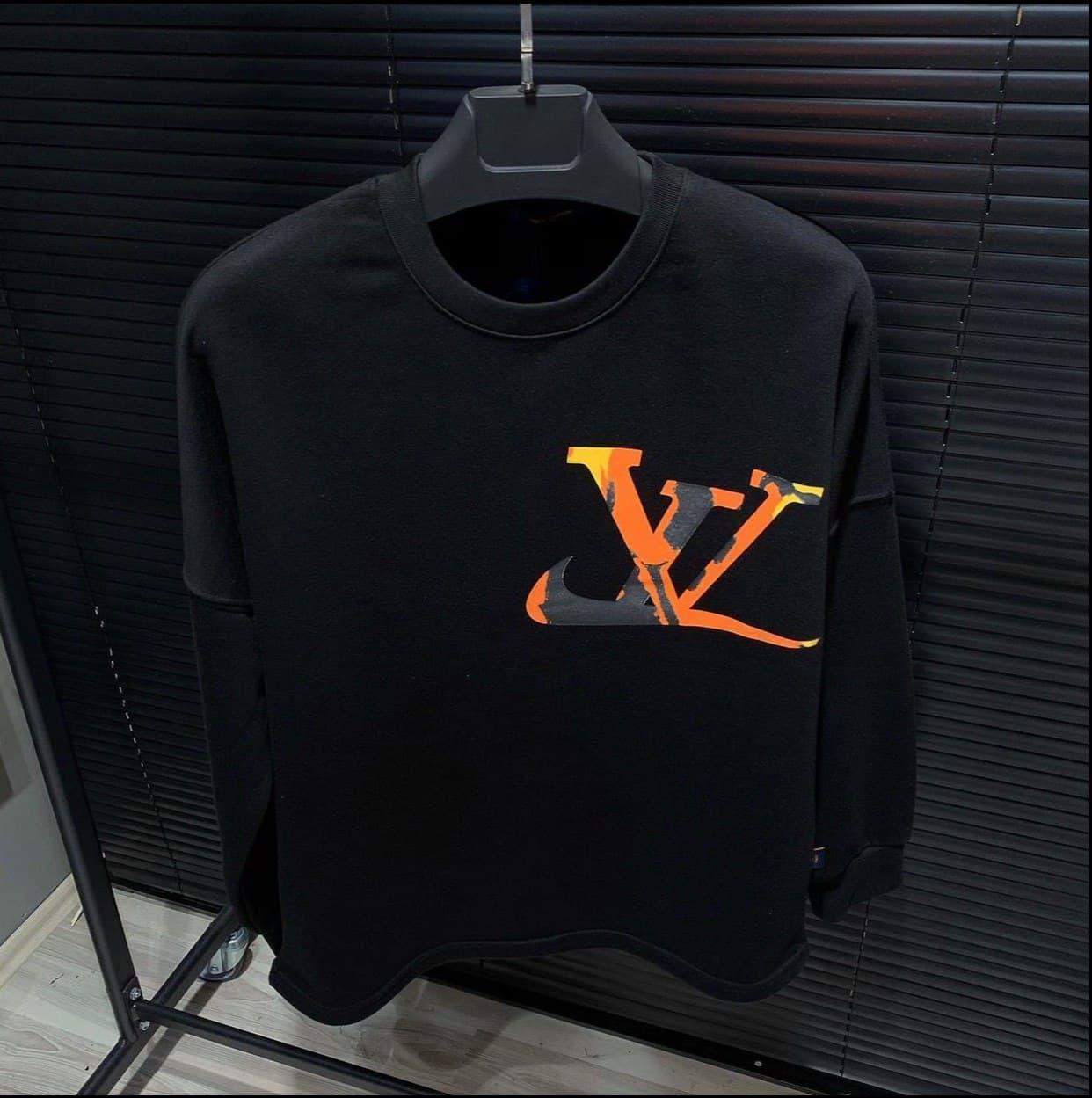 Мужская кофта свитшот Louis Vuitton D10187 черная