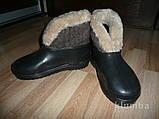 Валенки кожаные натуральный мех валянки уги, фото 8
