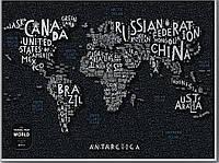 Скретч Карта Світу LETTERS World