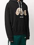 Мужская кофта худи Palm Angels D10194 черная, фото 3