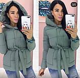 Куртка женская зимняя  Размеры - 42-44, 44-46, Цвета: светлый беж, мокко, пудра, фисташка, фото 4
