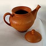 Чайник керамічний для запарювання або ж заварювання натуральних трав'яних чаїв (+- 1000 мл), фото 3