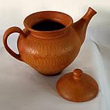 Чайник керамічний для запарювання або ж заварювання натуральних трав'яних чаїв (+- 1000 мл), фото 2