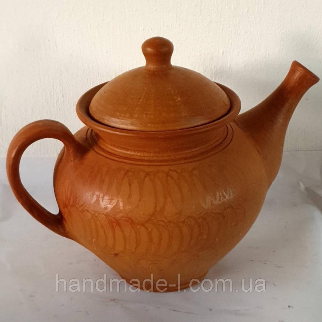Чайник керамічний для запарювання або ж заварювання натуральних трав'яних чаїв (+- 1000 мл)