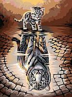 Картина за Номерами Кішка з Тінню Тигра