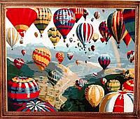 Картина по номерам 40х50 Воздушные шары (в коробке)