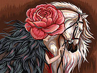 Картина по Номерам Белая Лошадь