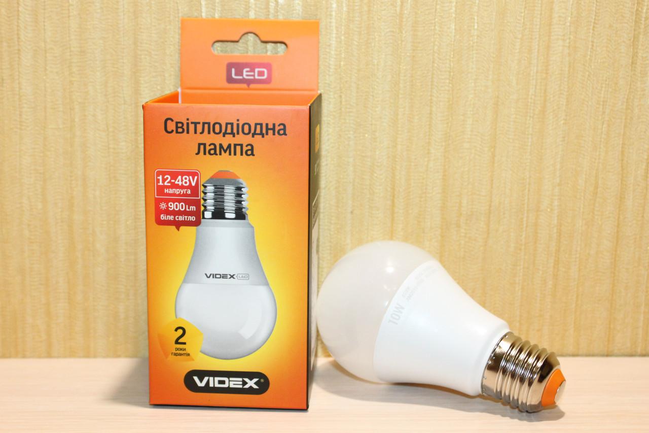 Лампа LED Videx A60e 10W E27 4100K 12-48V