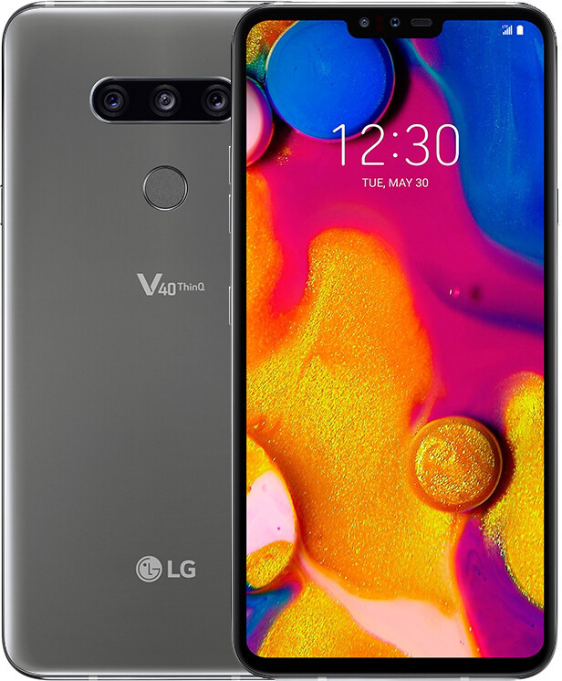 Смартфон LG V40 LM-V409N 128Gb Silver 1sim