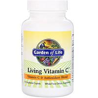 Живой Витамин С, Living Vitamin C, Garden of Life, 60 вегетарианских капсул